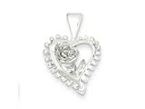 Sterling Silver Fancy Heart Charm style: QC586
