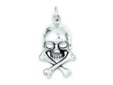 Sterling Silver Skull And Bones Pendant - Chain Included style: QC5880