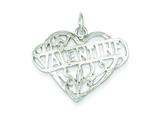 Sterling Silver Valentine Heart Charm style: QC594