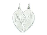 Sterling Silver 2 Pc. Heart-shaped Mitzpah Charm style: QC5959