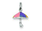 Sterling Silver Enamel Umbrella Charm style: QC6044
