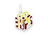 Sterling Silver Enameled Gift Charm style: QC6085