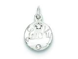 Sterling Silver W/ Stellux Crystal Lucky Charm style: QC6104