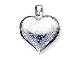 Sterling Silver Puffed Heart Charm style: QC618