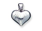 Sterling Silver Puffed Heart Charm style: QC619