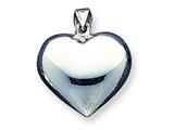 Sterling Silver Puffed Heart Pendant - Chain Included style: QC623