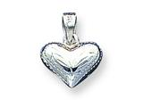 Sterling Silver Puffed Heart Charm style: QC627