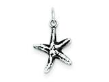 Sterling Silver Antiqued Starfish Charm style: QC6325
