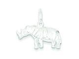 Sterling Silver Rhino Charm style: QC6341