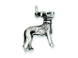 Sterling Silver Antiqued Dog Charm style: QC6351