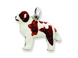 Sterling Silver Enameled Saint Bernard Charm style: QC6414