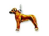 Sterling Silver Enameled Rodesian Ridgeback Charm style: QC6425