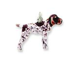 Sterling Silver Enameled German Shorthaired Pointer Charm style: QC6458