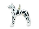Sterling Silver Enameled Great Dane Charm style: QC6460