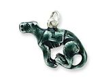 Sterling Silver Enamel Medium Greyhound Charm style: QC6462