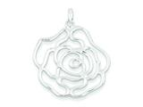 Sterling Silver Polished Flower Pendant - Chain Included style: QC6622