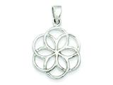 Sterling Silver Polished Multi Circle Pendant - Chain Included style: QC6626