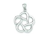 Sterling Silver Polished Celtic Design Pendant - Chain Included style: QC6630