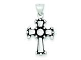 Sterling Silver Antiqued Cross Pendant - Chain Included style: QC6657