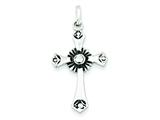 Sterling Silver Antiqued Cross Pendant - Chain Included style: QC6677
