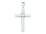 Sterling Silver Cubic Zirconia Cross Pendant - Chain Included style: QC6691