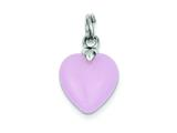 Sterling Silver Rose Quartz Heart Charm style: QC6746