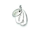 Sterling Silver Polished Wish True Love Charm style: QC6772
