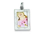 Sterling Silver Polished Picture Frame Charm style: QC6804