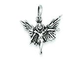 Sterling Silver Antiqued Fairy Pendant - Chain Included style: QC6852