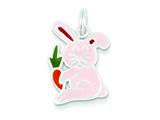 Sterling Silver Enameled Rabbit Charm style: QC6871