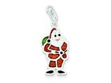 Sterling Silver Polished and Enameled Santa Charm style: QC6881