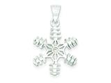 Sterling Silver Snowflake Pendant - Chain Included style: QC6893