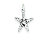 Sterling Silver Antiqued Starfish Charm style: QC6923