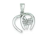 Sterling Silver Double Horseshoe Good Luck Charm style: QC6995