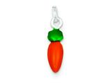 Sterling Silver Enameled Polished Carrot Charm style: QC7037