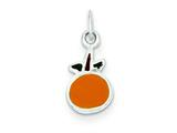 Sterling Silver Enameled Orange Charm style: QC7045