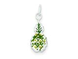 Sterling Silver Enameled Pineapple Charm style: QC7046