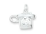 Sterling Silver Polished Telephone Charm style: QC7086
