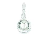 Sterling Silver Soccerball Charm style: QC708