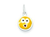 Sterling Silver Enameled Emotion Face Charm style: QC7098