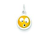 Sterling Silver Enameled Emotion Face Charm style: QC7100