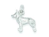 Sterling Silver Polished Wolf Charm style: QC7148