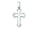 Sterling Silver Polished Cross Pendant - Chain Included style: QC7247