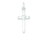 Sterling Silver Cross and Heart Pendant - Chain Included style: QC7268