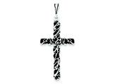Sterling Silver Antiqued Cross Charm style: QC7284