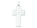 Sterling Silver Polished Cross Pendant - Chain Included style: QC7286