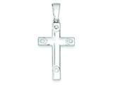 Sterling Silver Polished Cross Pendant - Chain Included style: QC7293