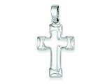 Sterling Silver Polished Cross Pendant - Chain Included style: QC7294