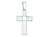 Sterling Silver Polished Cross Pendant - Chain Included style: QC7298