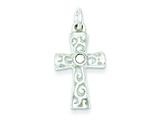 Sterling Silver Stellux Crystal Cross Pendant - Chain Included style: QC7327